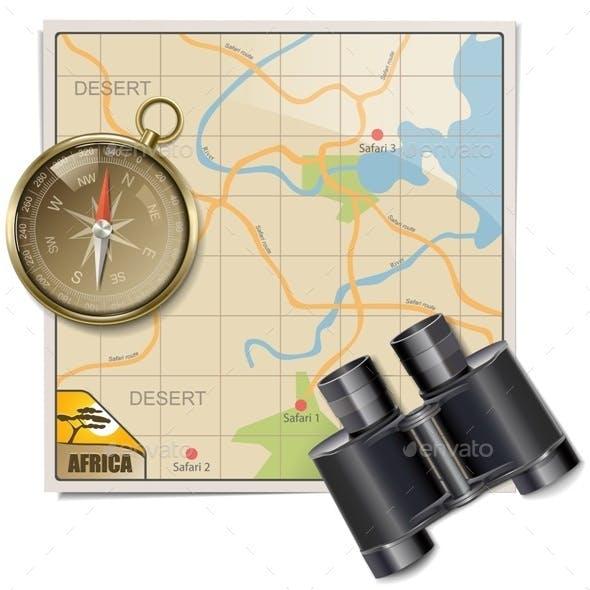 Vector Safari Map