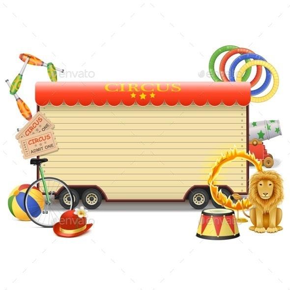 Vector Circus Billboard - Seasons/Holidays Conceptual