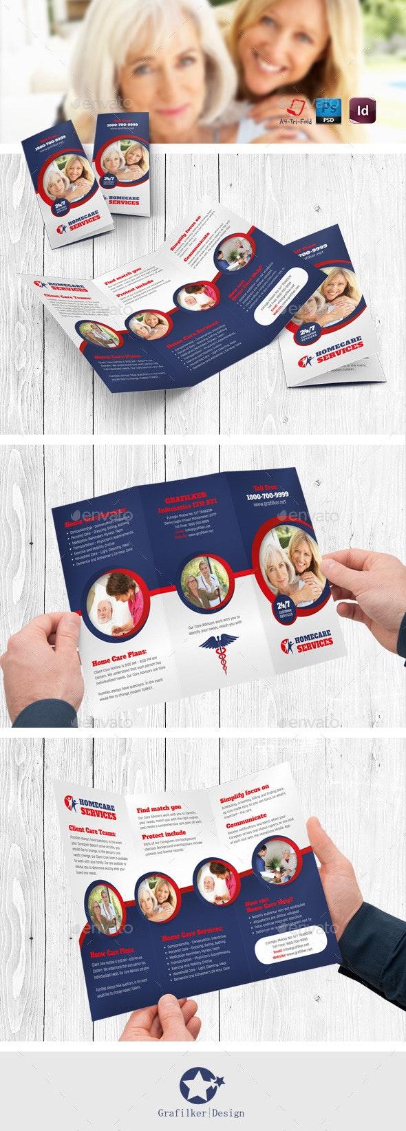 Home Care Tri-Fold Templates - Brochures Print Templates