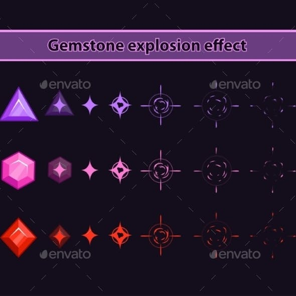 Gemstone Explosion Effect