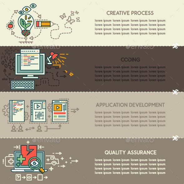 Set Six of Internet Technology Banners