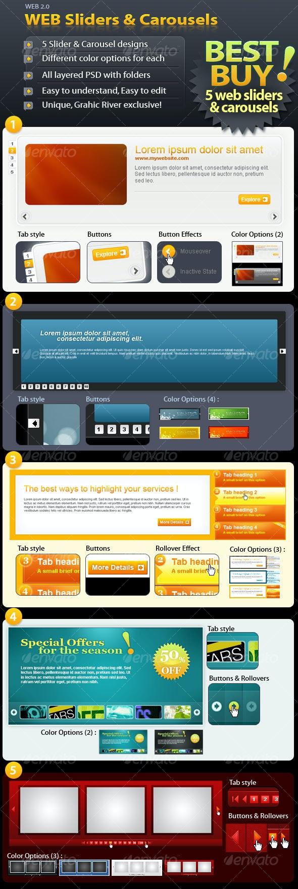 Web Sliders & Carrousels - Web Elements