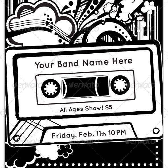 Cassette Tape Band Flyer