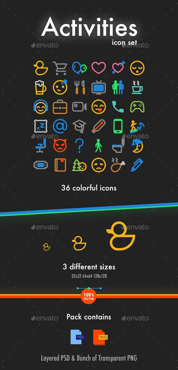 Activities icon pack - Web Icons