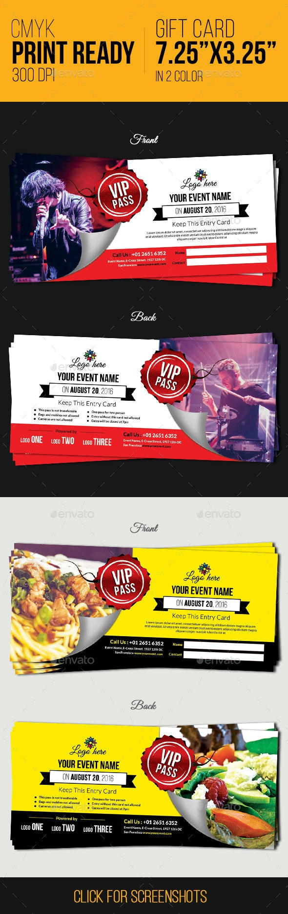 Multi Purpose Coupons / Vouchers - Cards & Invites Print Templates