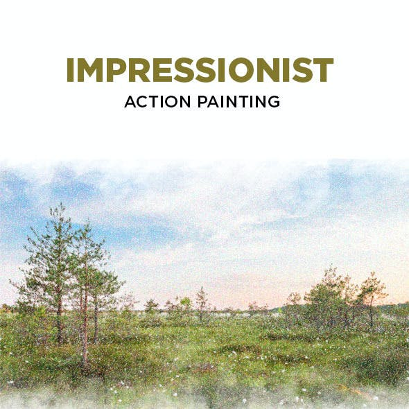 Impressionist Action Painting