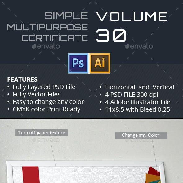Simple Multipurpose Certificate GD030