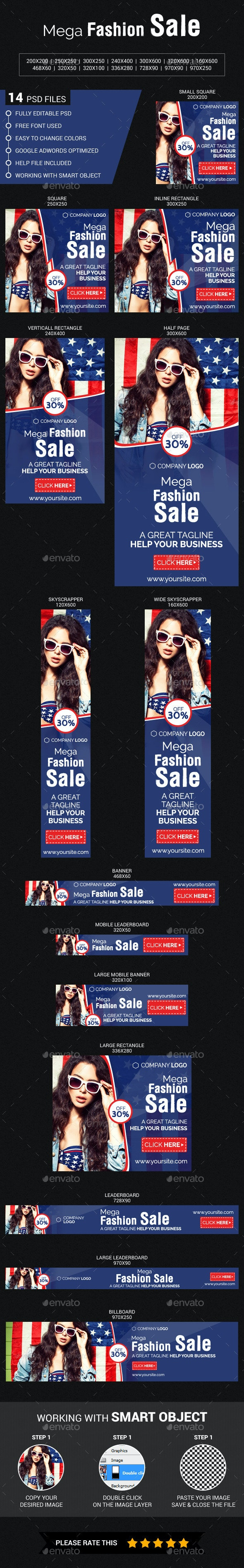 Mega  Fashion  Sale - Banners & Ads Web Elements