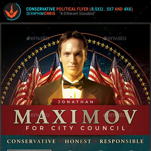 Conservative Political Flyer Template