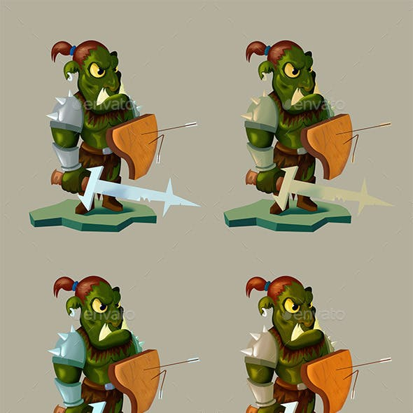 Orc 2D Game Character