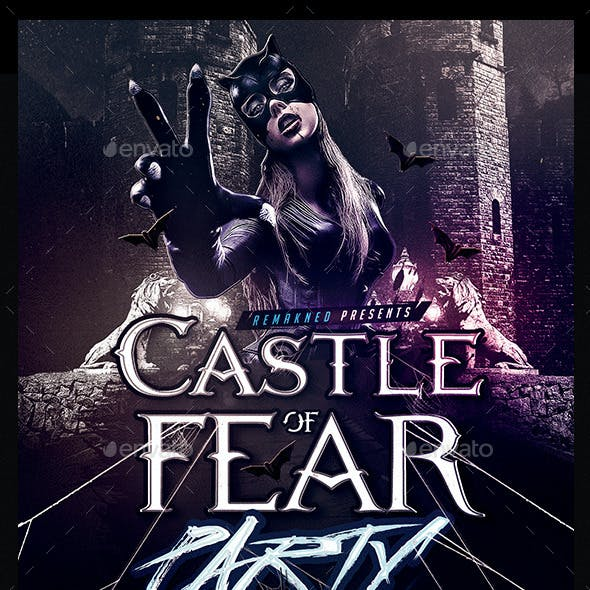 Castle Of Fear Party | Flyer Template PSD