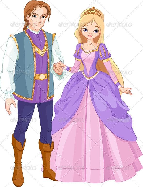 Beautiful prince and princess   - People Characters