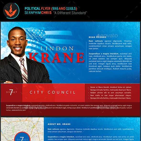 Political 6x9 Flyer Template