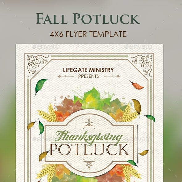 Fall Potluck Flyer