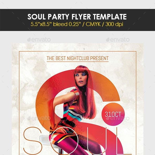 Soul Party Flyer Template