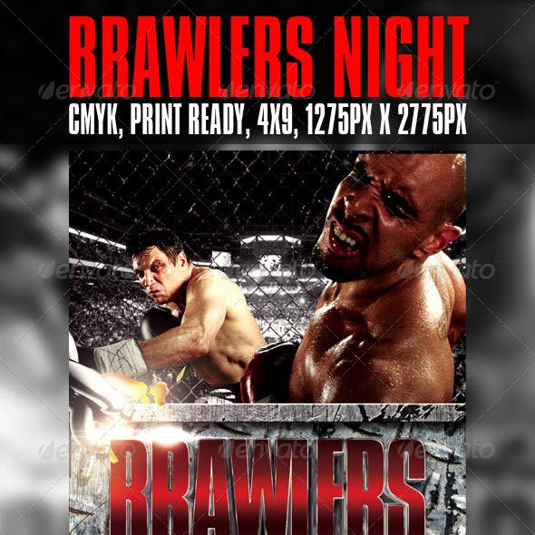 Brawlers Night flyer template