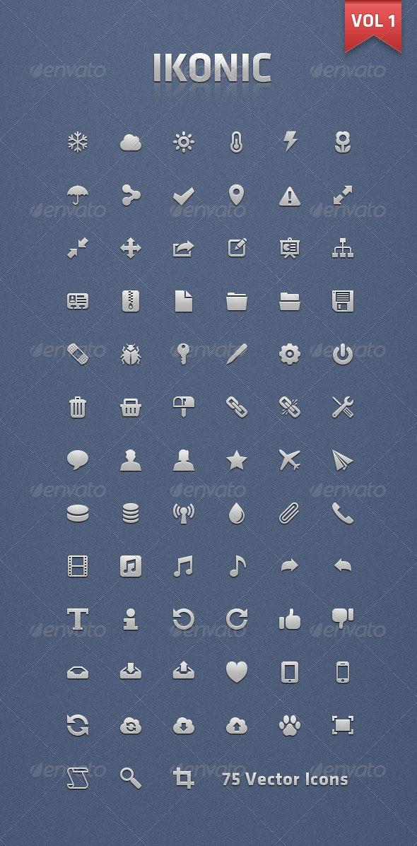 Ikonic 1 - Vector Icons - Web Icons