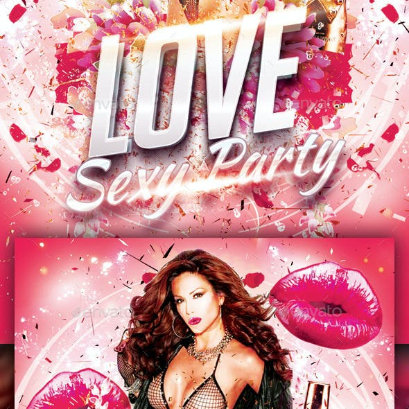 Love Sexy Party Flyer