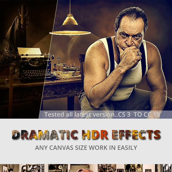 Dramatic HDR Photo Effect