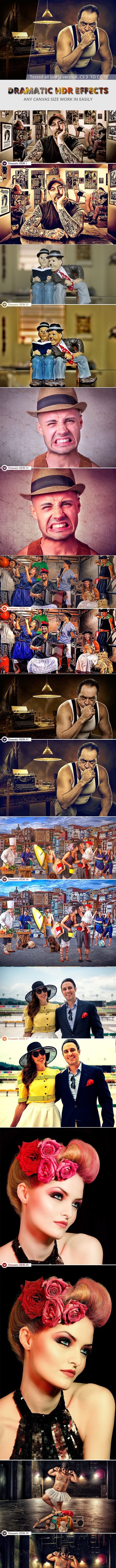 Dramatic HDR Photo Effect - Photo Effects Actions