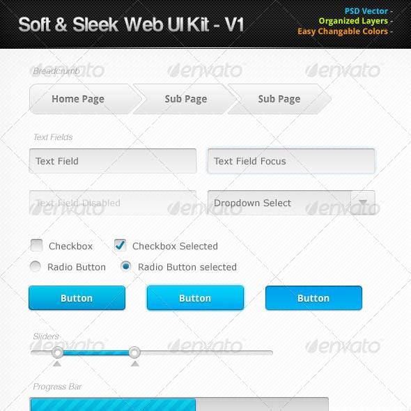 Soft & Sleek Web UI Kit
