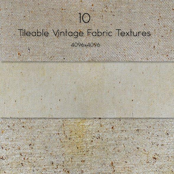 10 Tileable Vintage Fabric Texture