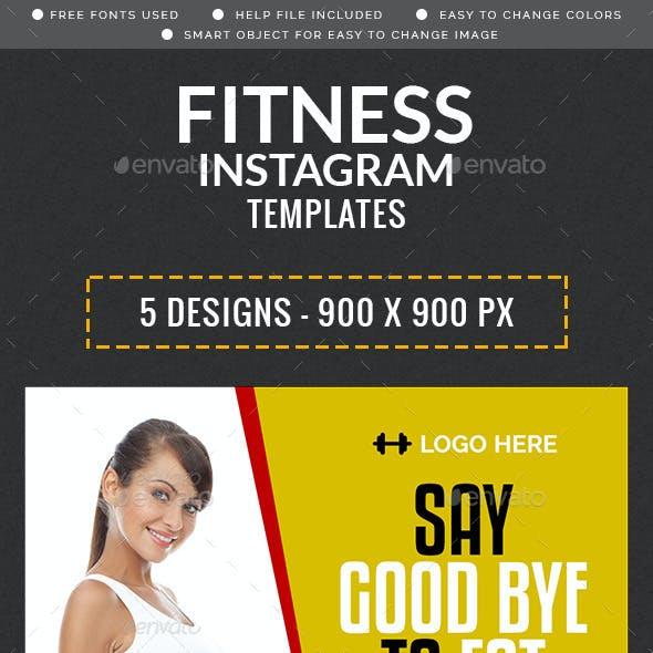 Fitness Instagram Templates  - 5 Designs