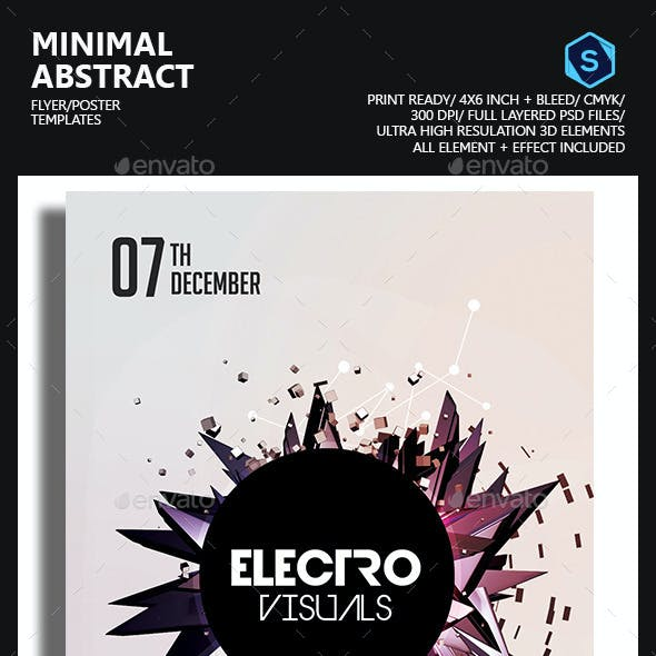 Minimal Abstract Flyer/Poster Template