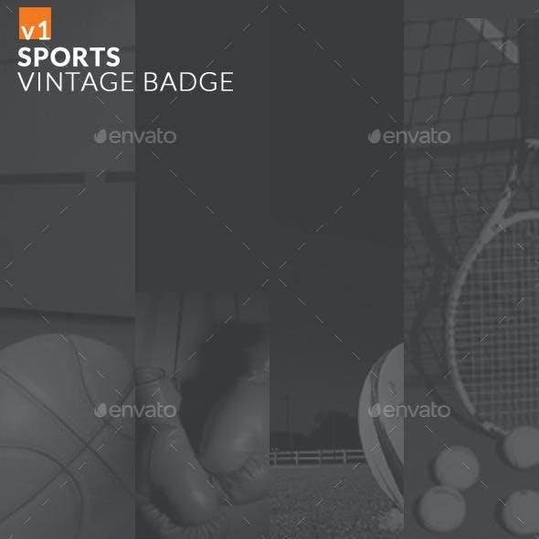 Sports Vintage Badge