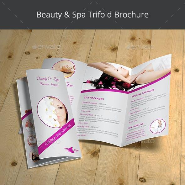 Beauty & Spa Trifold Brochure