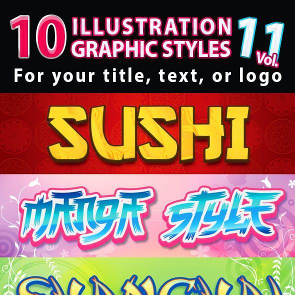 10 Illustrator Graphic Styles Vol.11