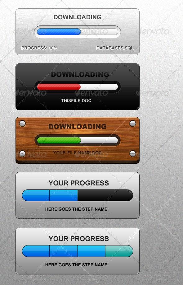 Fancy Progress Bar Set - Miscellaneous Web Elements