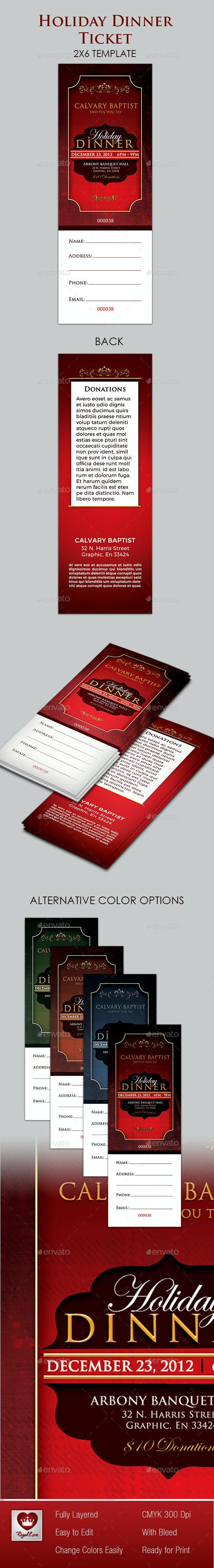 Holiday Dinner Ticket - Miscellaneous Events