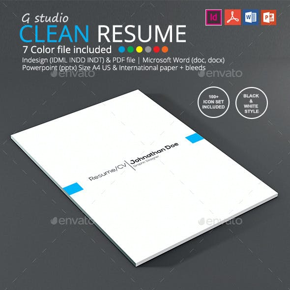 Gstudio Clean Resume Template