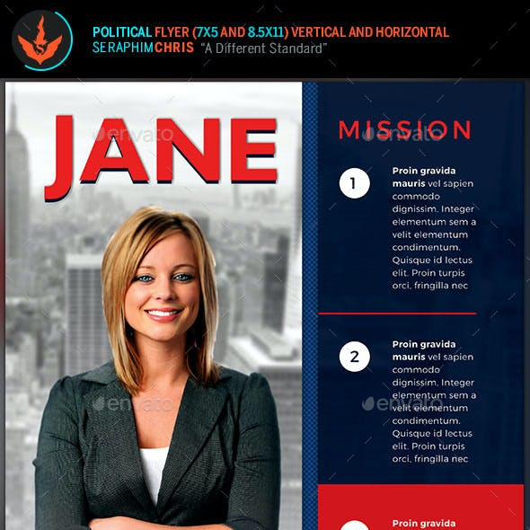 Vote Jane - 5x7 Political Flyer & Mailer Template
