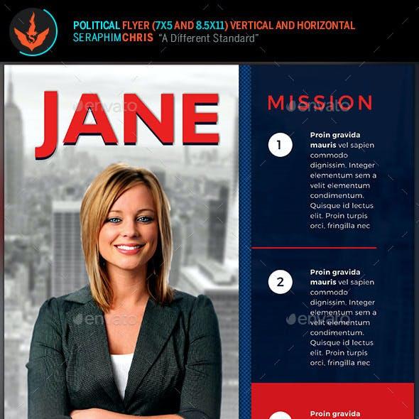 Vote Jane - 5x7 Political Flyer & Mailer Template