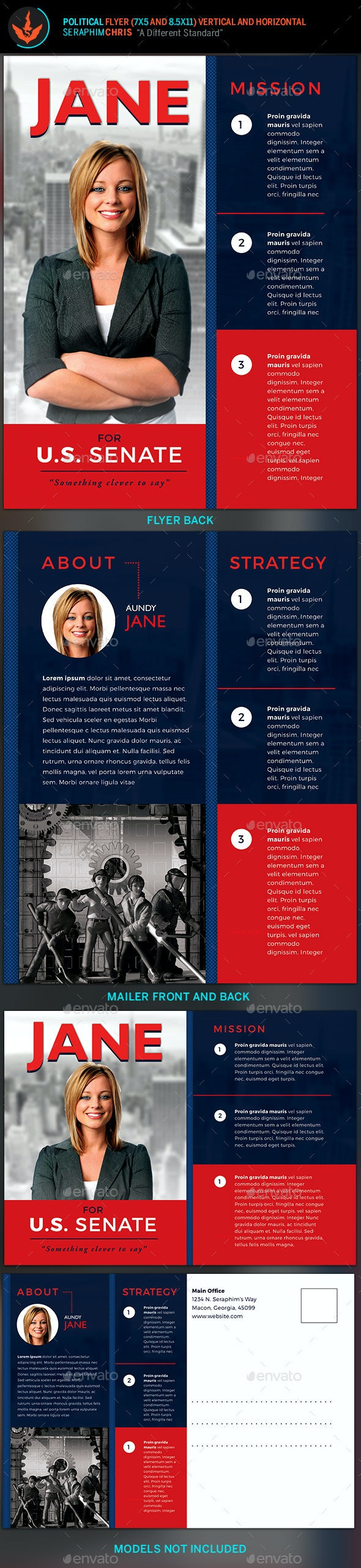Vote Jane - 5x7 Political Flyer & Mailer Template - Events Flyers
