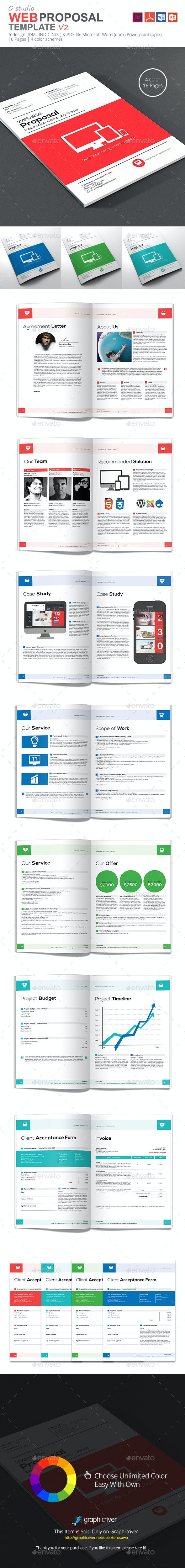 Gstudio Web Proposal Template V2 - Proposals & Invoices Stationery