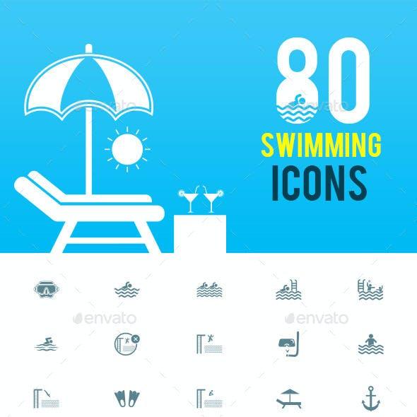 80 Swimming Icons