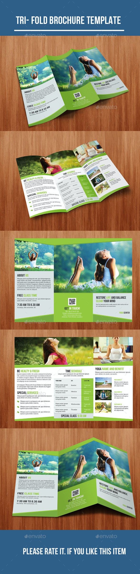 Tri- Fold Yoga Brochure - Corporate Brochures