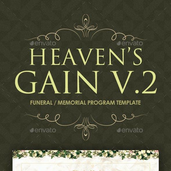Heaven's Gain - Funeral / Memorial Program 02