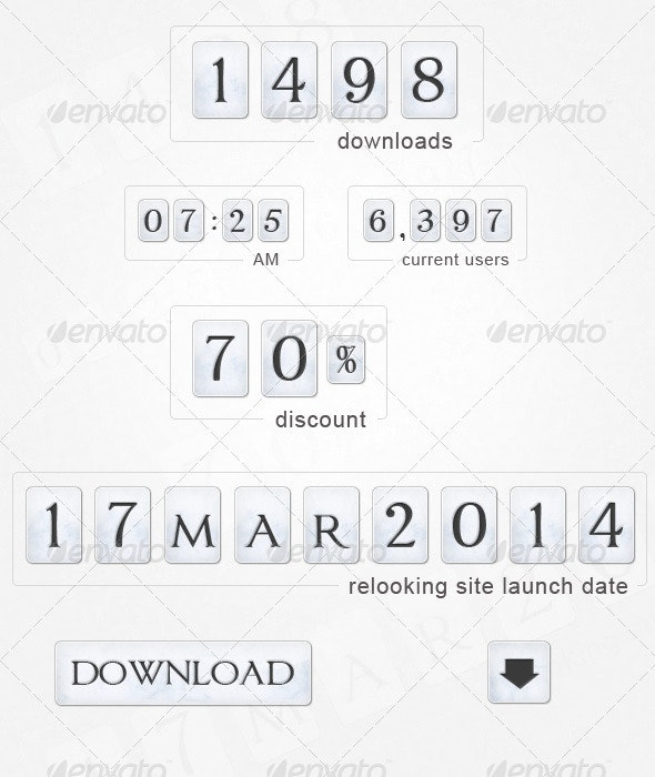 Counters and Web Elements Pack - Miscellaneous Web Elements