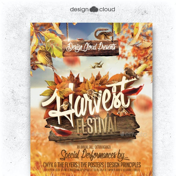 Fall Harvest Festival Flyer Template