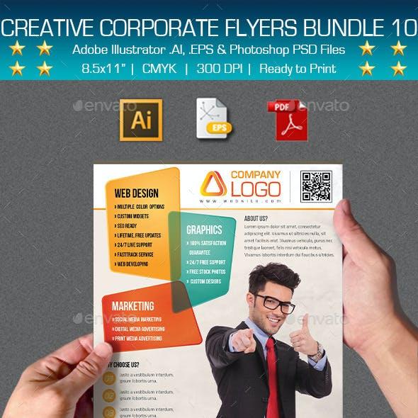 Creative Multipurpose Flyers Bundle 10