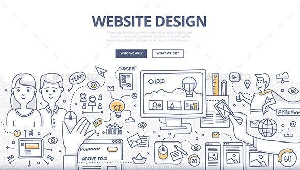 Web Design Doodle Concept - Web Technology
