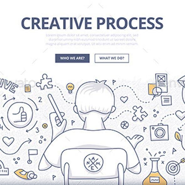Creative Process Doodle Design