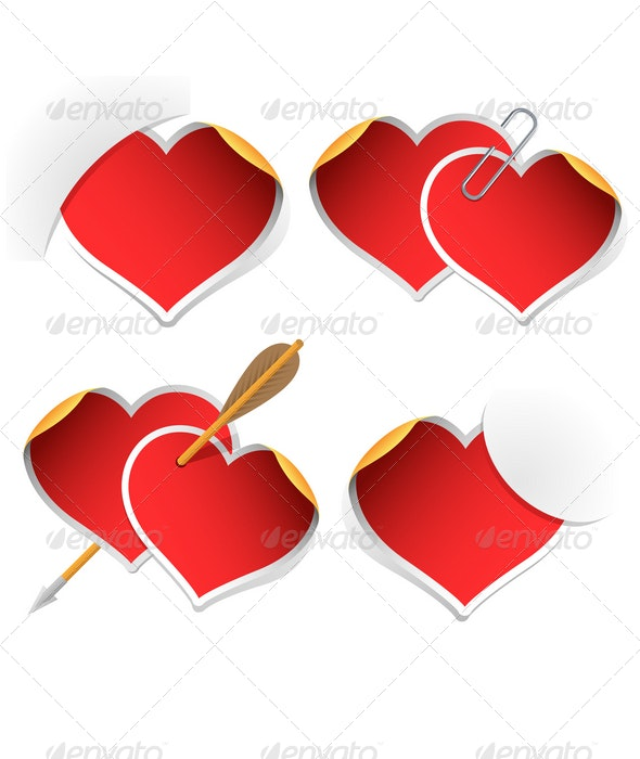 Heart stickers collection - Valentines Seasons/Holidays