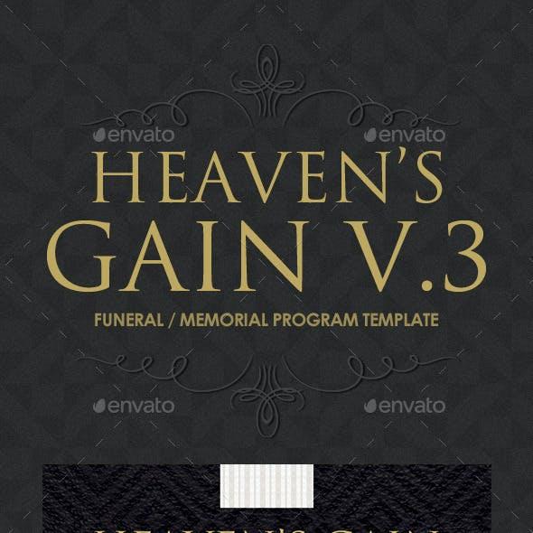 Heaven's Gain - Funeral / Memorial Program V.3
