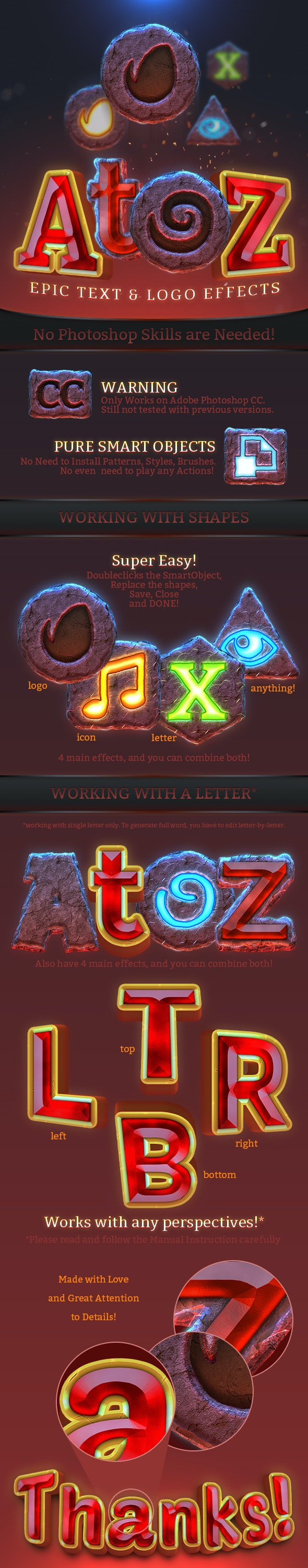 AtoZ: Epic Text & Logo Effect - Text Effects Styles