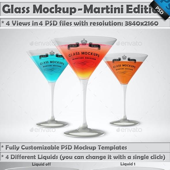 Glass Mockup - Martini Glass Mockup Volume 3